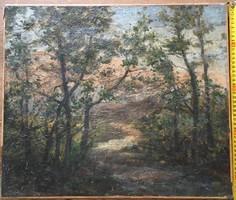 Erdő részlet festmény