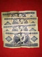Régi 20ft papirpénzek