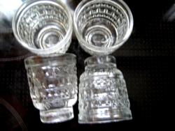 OETKER WELTBERÜHMT vintage 4 db-os pálinkás pohár készlet