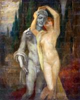 Akt szoborral - Vajda Zsigmond