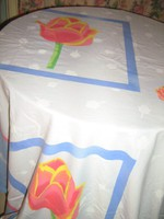 Csodaszép tulipános vintage stílusú hatalmas dupla paplanhuzat