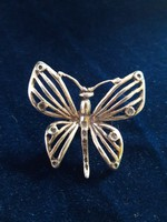 Ezüst pillangò asztali dìsz
