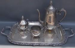 Alpakka tea kínáló szett ingyen futár