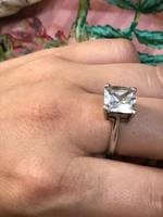 Nagyon szép ezüst hatalmas köves designer ötvös gyűrű 19mm