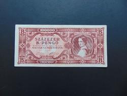 100000 B.- pengő 1946 Szép ropogós bankjegy