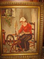 Gyönyörű keretben gobelin kép 51 cm x 42 cm