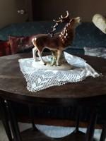 Hatalmas porcelán szarvas