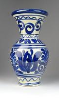 0S142 Régi Korondi kerámia váza 19.5 cm