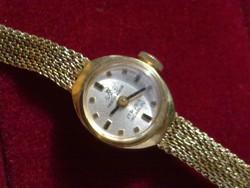 Gyönyörű 14k arany antik ékszeróra ritkaság svájci luxus márkás karóra női óra