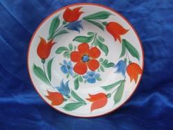 Antik WILHELMSBURG tulipános tányér