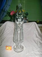 Retro üveg palack - női alak