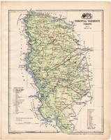Torontál vármegye térkép 1899, Magyarország atlasz (a), Gönczy Pál, 24 x 30 cm, megye, Posner Károly