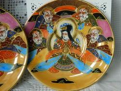 Antik Japán Satsuma, Meiji korszak kistányér, csésze alátét 2 db egyben, gyűjtői