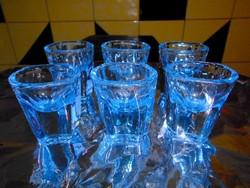 6 db vastag röviditalos üvegpohár