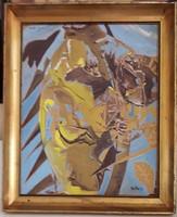Xantus Gyula festmény Kóka Ferenc festőművésznek ajándékba