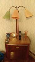 Retró bárszekrény háromkaros lámpa ó német szekrénysorhoz