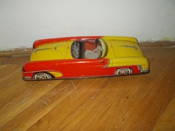 Régi nagyméretű német játék lemez autó 1960 as évek