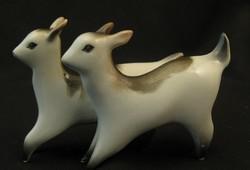 Zsolnay porcelán őzikepár (?) állatfigurák