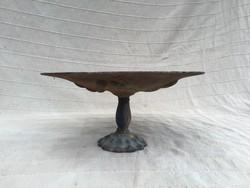 Gyönyörű öntött vas asztali gyümölcs kínáló tál