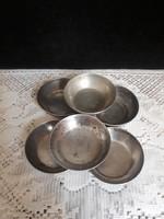 6 db Régi alpakka tálka- relikvia gyüjtőknek
