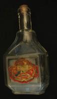 Ritka cimkés Braun likőrös üveg