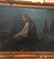 Jézus olajfestmény