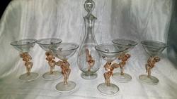 Art deco Bimini italos üveg készlet