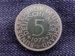 Németország Szövetségi Köztársaság (1949-1990) ezüst (.625) 5 Márka 1972 D/id 9369/