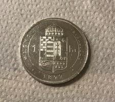 Ferenc József 1877 KB ezüst 1 Forint