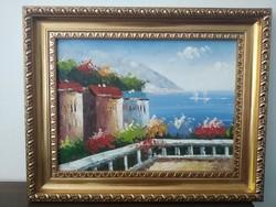 Mediterrán festmény 50x40 cm
