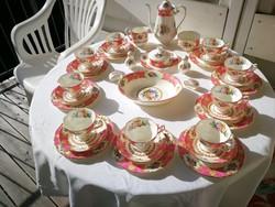 Kuriózum!  12 szem.Extrém ritka Angol Royal Albert Lady Carlyle  komplett teás/kávés/sütis porcelán