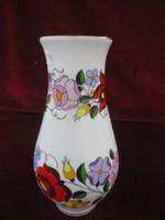 Kalocsai porcelán  váza, 19 cm magas.