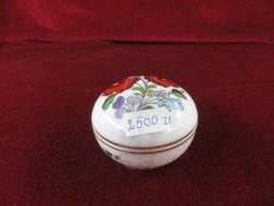 Kalocsai porcelán, mini bonbonier, átmérője 7 cm.