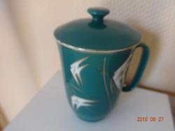 Fedeles, aranyozott szélű kínai porcelán teás csésze, bögre