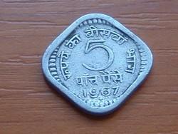 INDIA 5 PAISE 1967 ALU. #