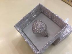 Gyémánt Brilliáns Szív Alakú Gyűrű 3 ct Csere Is LEÁRAZVA !