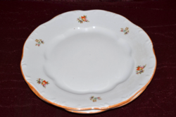2 db Zsolnay narancsos szélű lapos tányér  ( DBZ 00117 )