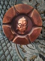 Budha réz falitányér