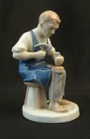 Cipész porcelán szobor - kézzel festett jelzett