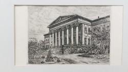 Magyar Nemzeti Múzeum, metszet, 19.sz. vége
