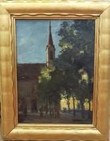 Ism. festő: Kapisztrán tér 1926