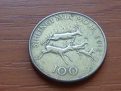 TANZÁNIA 100 SHILINGI 2012 #
