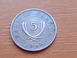 UGANDA 5 CENT 1966 #