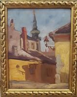 Ism.festő: Tabán ( Virág Benedek utca) 1926.