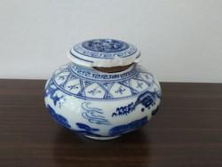 Régi kínai porcelán füstölő tartó sérült!