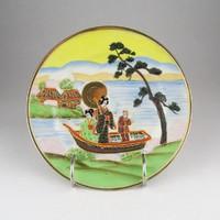 0X455 Háromalakos kínai porcelán dísztányér 19 cm
