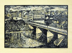 MÉSZÁROS LAJOS (1925-1971) - Zagyva-híd