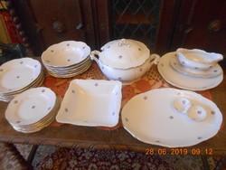 Zsolnay barokk, aranyozott étkészlet 6 személyes, hibátlan