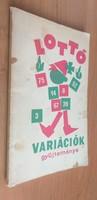 Varga H. István dr.:Lottó variációk gyűjteménye 1975.1000.-Ft