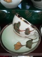 Zsolnay kávés csészék alátéttel Ősz